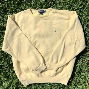 Vintage Yellow Polo Crewneck Sweatshirt